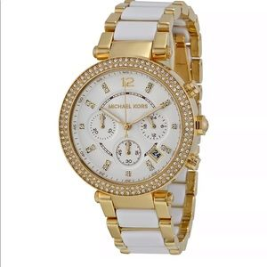 Michael kors women's bracelet Parker watch white